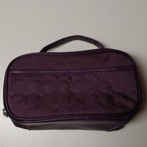 Shiseido Purple W/handle Make-up Bag